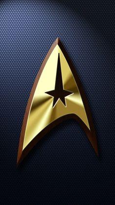 Trek-phone-wallpaper by Balsavor on DeviantArt Star Trek Wallpaper, Star Trek Voyager, Star Trek Logo, Star Logo, Cuadros Star Wars, Star Trek Characters, Univers Dc, Star Trek Series, Star Trek Starships