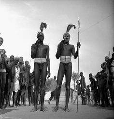 Africa | Dinka boys of the Duk Faiwil tribe. Sudan. 1949. |  © George Rodger