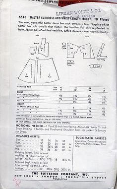 butterick halter dress 6518 back Halter Sundress, Halter Maxi Dresses, Vintage Dress Patterns, Vintage Dresses, Sewing, Nice, Fashion, Vintage Gowns, Moda