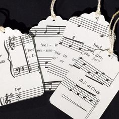 Music Gift Tags 15 recycled vintage sheet by TanithsOddsAndEnds