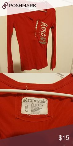Long sleeve top Long sleeve aero top made of stretchy material. Worn a few times excellent condition Aeropostale Tops Tees - Long Sleeve