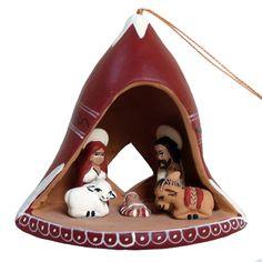 Fair Trade Chullo Nativity Ornament