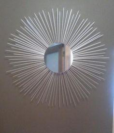 Moldura de Espelho com Palitos de Churrasco - DIY