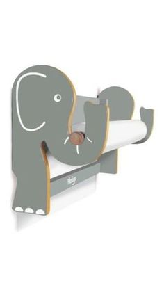 Elephant paper holder (roll - fix to wall - Kids Furniture)
