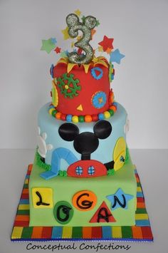 Mickey Mouse Club House Theme;Great find & funny since my Logan is turning 3 n loves Mickey mouse! Cute!