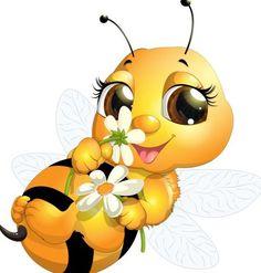lovely cartoon bee set vectors 24