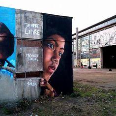"""Siempre Libre"". Mural @ Bologna Italy. With Nemo's street art behind March 2016. #tadlock #streetart #graffiti #streetartitaly #streetartmexico #bologna #bolognastreetart #mural #artporn #arteurbano #ig_bologna_ #freedom #graffitiart #mtn94 #sprayart by alexandertadlock"