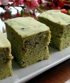 frozen wings: Steamed Green Tea Cake