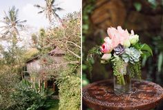 Incorporate succulents in your bouquet for a tropical feel