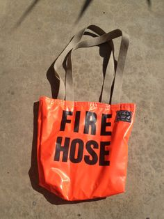 Tote  Shopping bag Fire Hose by LILOsDesign on Etsy, $35.00
