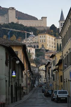 Medieval Hill Town of Spoleto, Umbria, Italy