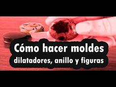COMO HACER MOLDES PARA DILATADORES, ANILLOS Y CHARMS /  HOW TO MAKE EAR ...