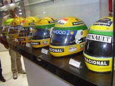 Capacetes usados por Ayrton Senna