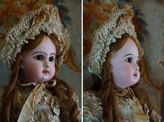 "26"" Beautiful French Bisque BEBE Depose Jumeau size 12."