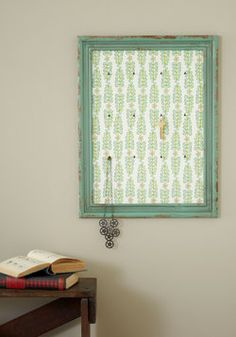 Display your beach tags and keys on this pretty frame.  Frame of Radiance Jewelry Holder, #ModCloth