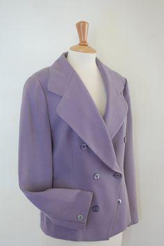 90's Elegant Double Breasted Jacket. Lavender by flyingcloset