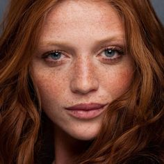 Freckled and Fabulous #freckles #redhead #model