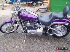 Harley Davidson Motorcycles for Women | 2001 Purple Harley-Davidson Softail Deuce For Sale in Loveland CO ...