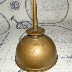 BRASS Oil Can from an estate sale home decor collectibles Grease, Decorative Bells, I Shop, Childhood, Industrial, Oil, Memories, Canning, Cool Stuff