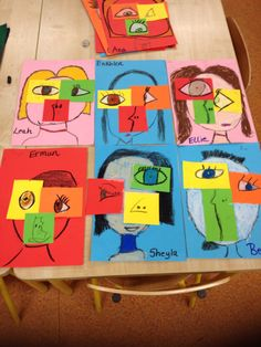 First class in rutland street take on picasso's cubism brownies girl s Kindergarten Art Lessons, Kindergarten Art Projects, Classroom Art Projects, Art Lessons Elementary, Art Classroom, Elementary Education, Picasso Cubism, Cubism Art, Portraits Cubistes