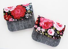Sweet Garden Pleated Pouches