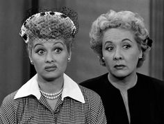 "Classic pair  Lucy Ricardo (Lucille Ball) and Ethel Mertz (Vivian Vance, right) also seemed to end up in one wacky situation after another on the hit TV series, ""I Love Lucy."""