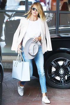 Celebrity Outfit Ideas That Don't Involve the Color Black via @WhoWhatWear