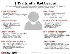 Bad leader traits