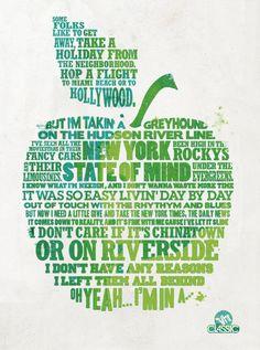 Lyrics- New York State of Mind by Billy Joel Zine, I Love Nyc, My Love, A New York Minute, Empire State Of Mind, Billy Joel, Thing 1, Music Lyrics, Lyric Art
