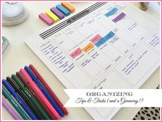 A great way to stay organized for the week. This calendar is designed with all the organizational tools you need (menu planner, budget, priorities, things to do list, weekly calendar and more!) then you take a picture of it to have your whole week/plan with you when you need it. Brilliant!!!