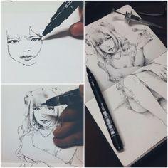 http://www.facebook.com/drawmemaybe #sketch - Lollipop Pen and ink - My sketchbook
