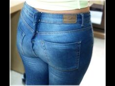 Fitted Jeans Waist-FULL Version-No More Gap in Back! How To Take In Waist - YouTube