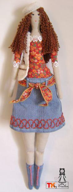 "Текстильная кукла: Кукла тильда ""Виолетта"""