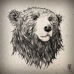 BEAR by artofEvre.deviantart.com on @deviantART