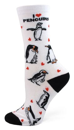 Absolute Socks - I Love Penguins Socks, $7.99 (http://www.absolutesocks.com/i-love-penguins-socks/)