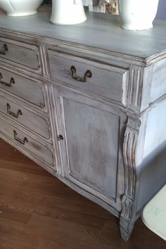 vintage chic buffet french shabby by VintageChicFurniture on Etsy