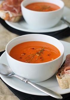 Roasted Red Pepper Soup - The Galley Gourmet