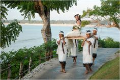 A grand entrance, carried in on a bamboo carrier by four Balinese traditional dressed men....Felt like a princess!
