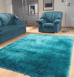 Solid Turquoise Shag Rug 5' x 7' ft. ($199.99USD), Area Rug - Rug Addiction, Rug Addiction - 1