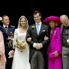 Au mariage de la princesse Alix de Ligne