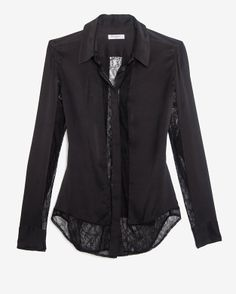 Equipment EXCLUSIVE Earl Lace Panel Blouse