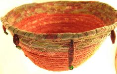 Fabric covered bowl by stitchworks-jackie, via Flickr