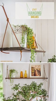 DIY Hanging Shelves