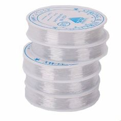 """5pcs Roll White Elastic Beading Cord Wire by Crazy Cart. $1.05. Features:   1.Made of high quality Rubber   2.Stretch   beading cord, great for bead Stringing, Making bracelets and   necklaces  Specifications: 1.Condition:   New 2.Brand: Touchstone 3.Material: Rubber 4.Size:   0.8mm/0.03""""(Diameter) 5.Length: Approx. 39.37 inch / 10 m 6.Quantity:   5  Package included: 5 x Roll White Elastic Beading   Cord Wire"""
