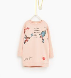 Image 1 of Bird sweatshirt dress from Zara