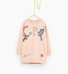 Image 1 of Bird sweatshirt dress from Zara