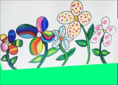 #Flowers  #original #Drawing added to #adobe #photoshop and added background.
