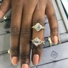 """295 Likes, 9 Comments - Engagement 101 (@engagement101) on Instagram: """"Here are two pretty vintage style halos I spotted @marsfinejewelry during @jckevents . Love the…"""""""