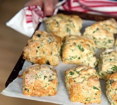 Cheesy Rocket Scones. You'll find the recipe here http://www.annabel-langbein.com/recipes/cheesy-rocket-scones/396/