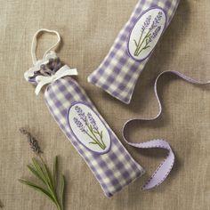 lavender sachets embroidered | Linen Lavender Scented Sachet